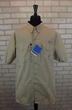 NEW Columbia Bonehead PFG Vented Khaki Shirt Mens XL X-Large S/S Fishing NWT ..