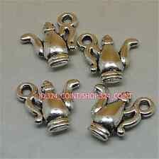 P1105 15pc Tibetan Silver teapot Charm Bead Pendant accessories wholesale