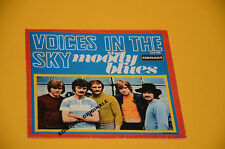 "MOODY BLUES 7"" 45 VOICES IN THE SKY 1°ST ORIG ITALY 1968 SOLO COPERTIN ONLY COVE"