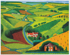 Road Across the Wolds, David Hockney Yorkshire print in 11 x 14 mount SUPERB