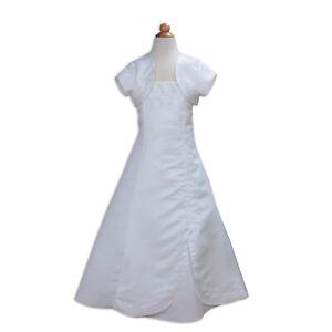 Girls Satin Dress Flower Girl Dress Communion Party Dress 2-13 Years