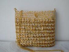 Mujeres Bolso de Mano Mano Crochet Anillo Anillo Tirar/puede Cartera bolso con anillos de oro