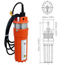 12V Submersible Deep DC Water Well Pump Alternative Energy Solar Powered Battery