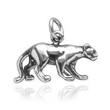 Panther Charm Sterling Silver .925 Lioness Big Cat Puma Traditional CMANPT03