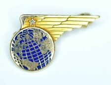 Antique Pan Am Airlines 10k Solid Gold Flight Attendant Pin wings Service Pin