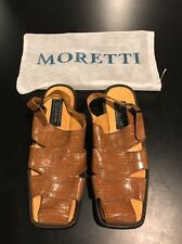 MORETTI Men's Brown Summer Shoes Genuine Premium Leather Upper/Lining SIZE 8.5