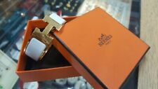 Hermes Clic Clac H  Enamel Bracelet ( Yellow Gold )