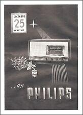 PUBBLICITA' 1940 RADIO PHILIPS MODELLO NATALE REGALO RICEVITORE VALVOLE