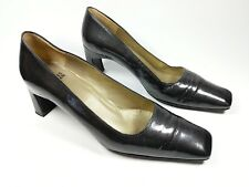 Charles Jourdan grey patterned patent leather mid heel shoes uk 5.5 b