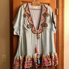 Camilla Franks Short Embellished Dress Tencel