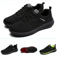 Men's Spring Lace Up Athletic Runing Comfort Sport Breathable Flats Solid Shoes