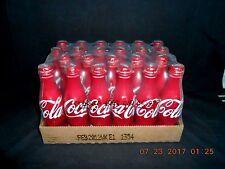 Full Case 2010 COCA-COLA 24 Red Aluminum Bottles Unopened 8.5 Fluid Ounces Each