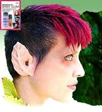 Hallowen Latex Ears Dryad Leaf Elf Fairy with Mehron Spirit &Gum Remover Kit