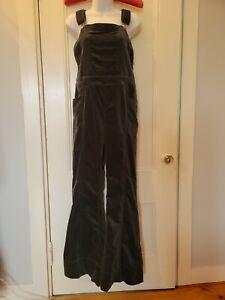 Anthropologie / Pilcro & the Letterpress Green Velvet Overalls Size 30 Jumpsuit
