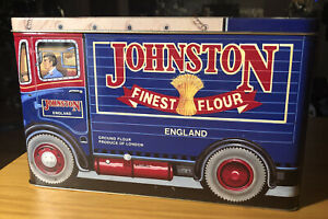 The Silver Crane Company vintage tin box 1991 JOHNSTON FINE FLOUR ENGLAND