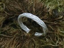 Zehring geflochten 925 Silber Zopfmuster Zehenring einstellbar Fußschmuck