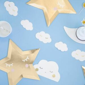 Cloud Garland Bunting 1.45m Long White Bedroom Party Baby Shower