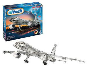 Jetliner C10 Eitech Metal Construction Building Toy Plane Steel Model Kit