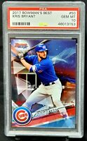 2017 Bowman's Best Cubs Star KRIS BRYANT Baseball Card PSA 10 GEM MINT - Pop 14