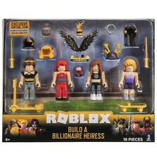 Roblox Celebrity Collection - Build a Billionaire Heiress 4 Figure Pack NEW