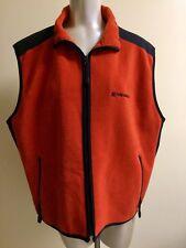 American Eagle Outfitters AE Performance XL Vest Fleece Full Zip Rust Orange