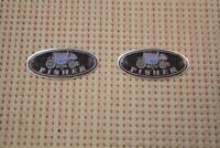 """""""Body By Fisher"""" Aluminum Door Sill Scuff Step Plate  Emblems Decals Pair"""