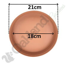 10 x 21cm Plant Pot Saucer Drip Tray Terracotta Plastic Deep High Sided Strong