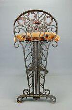 Antique Art Deco cast Iron Vanity Piano Bench Seville Studios Flowers 1930s