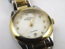 Rotary LB00201/D/06 Women Diamond Silver Textured Dial - 50m