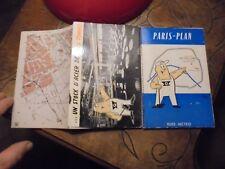 Ancien Plan de la Ville de Paris Rues et Métro offert par les Aciers Goffi