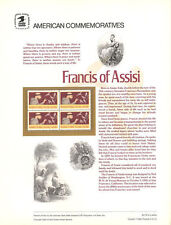 #174 20c Francis of Assisi #2023 USPS Commemorative Stamp Panel