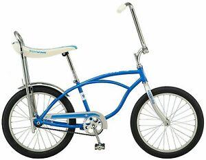 Schwinn Stingray Sting Ray banana seat bike blue silver NEW
