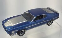 Danbury Mint 1:24 Limited Edition 1971 Mach 1 Ford Mustang 429 Cobra Jet Blue