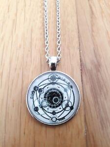 Solar system moon wicca magic pendant necklace sigil amulet gift