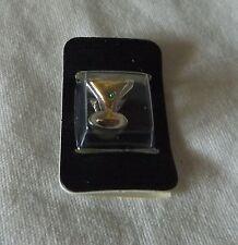 Necklace Bracelet Charm Bead Enamel Gold Martini Glass Drink & Olive Pendant