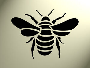 Shabby Chic Stencil Bumble bee Rustic Mylar Vintage A5 148x210mm furniture wall