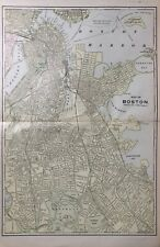 1892 Antique Street Map Boston, Massachusetts