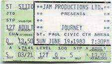 JOURNEY 6/19/1983 Frontiers Tour Concert Ticket!! St. Paul,MN CIVIC ARENA