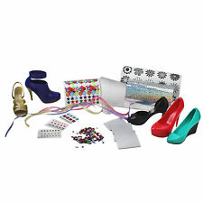 Girls SCARPA DESIGN PLAY SET CRAYOLA HOT HEELS KIDS FASHION ADESIVO ART KIT 5 Pack