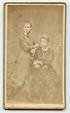 WALLET SIZE CABINET CARD PHOTOGRAPH OF TWO WOMEN, KENT, OHIO