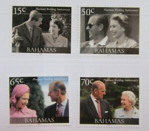 Bahamas Queen Elizabeth 70th Platinum Wedding Anniversary Set MNH #B17