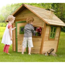 Casetta Legno Bambini Alice Gioco Esterno x Giardino 5 Finestre Porta Playhouse