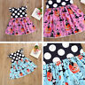 Sweet Toddler Kid Baby Girl Polka Dot Pumpkin  Pageant Dress Outfit Clothes