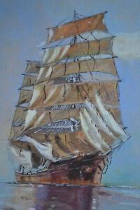 Tableau Marine. Voilier en mer