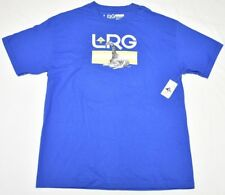 LRG L-R-G T-Shirt Men's Size XL Astro Giraffe Graphic Print Tee Blue Urban N798