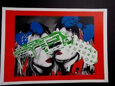 """Serigraphie Originale , Death NYC  """" Gun Women """" ,    Numérotée et Signée"""