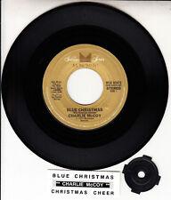 "CHARLIE McCOY  Blue Christmas & Christmas Cheer 7"" 45 record NEW + jukebox strip"