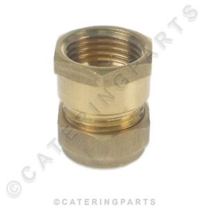 """BRASS 15mm COMPRESSION to 1/2"""" INCH BSP FEMALE FITTING ADAPTER PIPE CONVERTER"""