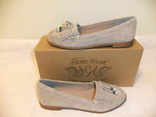 NINE WEST Gumper Beige Suede Leather Loafer Moccasin Comfort Size 8.5 NIB $80