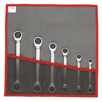 Facom 64.JE6T 6 Piece Metric Ratchet Ring Spanner Wrench Tool Set